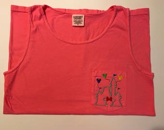 Disney Inspired Castle Comfort Colors Tank with Balloons