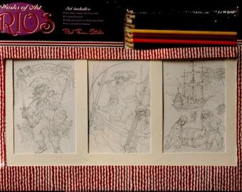 Red Farm Studio Works Of Art Trios Pirates Art Gift Set