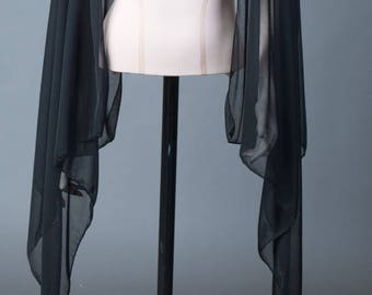Removable cape style sleeves