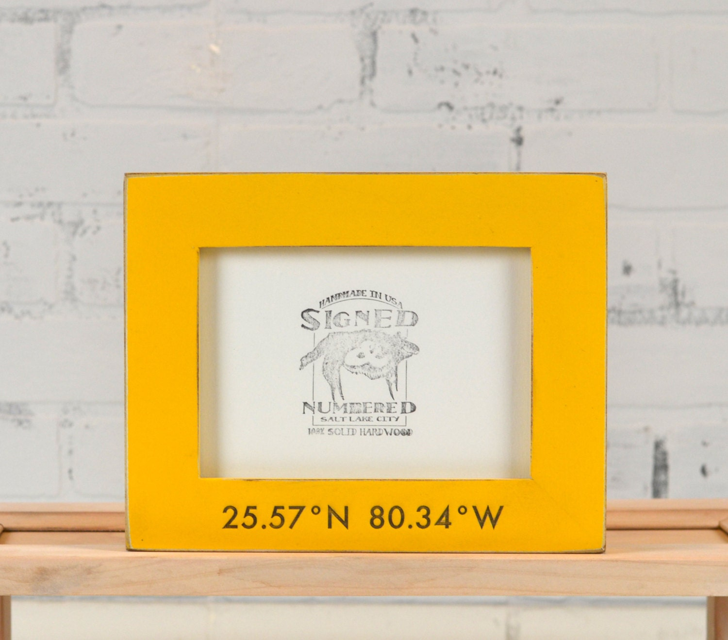 5x7 Coordinates Frame Custom Engraved in Finish COLOR of YOUR CHOICE ...