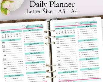 Editable Daily Planner Template PDF, Daily Planner Printable PDF, Appointments Template Printables, Day Plan, Letter A5 A4, Instant Download