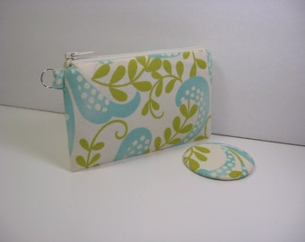 Coin Purse, Pocket Mirror, Mini Glam Pouch, Credit Card Holder, Gift Card Holder, Zipper Pouch,