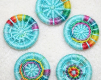 Rainbow Sky Dorset button kit mixed pack - 5 patterns, 10 buttons