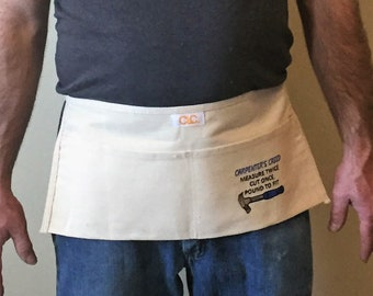 Nail Apron, Embroidered Apron, Tool Belt, Kids Apron, Fathers Day, Work apron, Carpenters Apron, Gardening Apron, Construction Apron