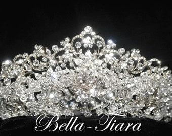 Swarovski crystal crown, wedding crown, crystal bridal crown, crystal bridal tiara, wedding tiara, crystal wedding headpiece