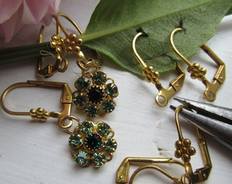 10 Pairs Flower Lever Back Earring Wires