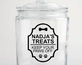Pet Treat Jar - Vinyl Decal - DIY - Dog, Cat, Treat Jar Container
