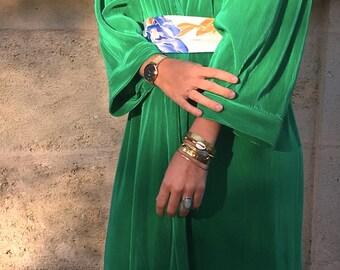 French Vintage pleats dress