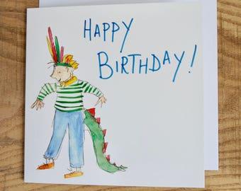 Dinosaur Boy Birthday Card