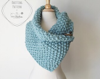 Gallery Cowl Knitting Pattern, Chunky Cowl Pattern