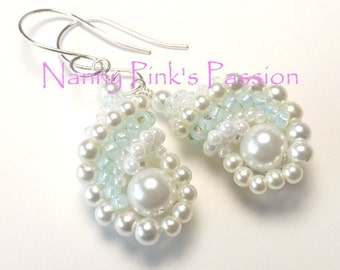 PDF TUTORIALS ~ Island Pearl Reversible Shell Earrings