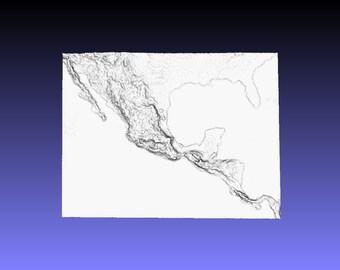 Mexico 3D landscape STL