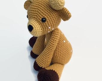 Deer Plush // Amigurumi Crochet Stuffed Animal // Woodland Nursery // Darling Deer