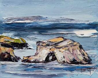 Beach Art, Monterey Bay, California Art, Beach Painting, Plein Air, Plein Air Painting,Capitola, Santa Cruz, Landscape Painting,Sailboats