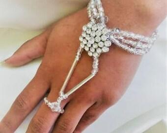 boho bracelet - beach wedding bracelet - bohemian bracelet - hipster bracelet - bracelet ring - handlet - bracelet - gift - hand bracelet