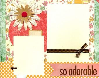 So Adorable - 12x12 Premade Scrapbook Page