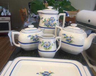Five Piece Tea Set Made in Japan