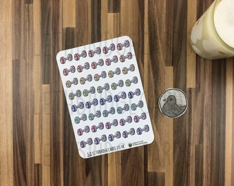 Gym Stickers; Hand Drawn Stickers; Dumbells; Work Out; Fitness Planning; Planner Stickers; Erin Condren Compatible; Happy Planner