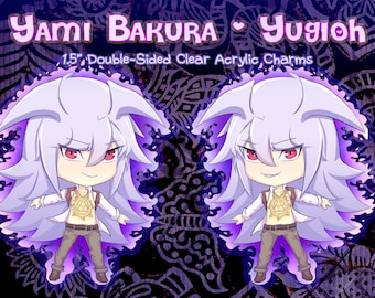 Yugioh Bakura Yugioh Keychain Yugioh DSOD Charm Double Sided Acrylic Charm Yugioh DM YGO Yu-Gi-Oh Duel Monsters Keychain Yami Bakura Charms