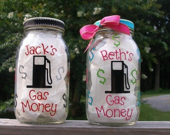 Gas Money Jar Coin Bank