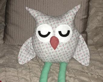 Handmade Stuffed Owl Plushy