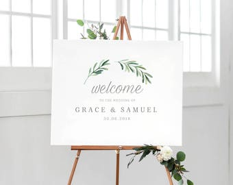 Welcome To Our Wedding Sign Template, Printable Welcome Sign, Wedding Welcome Sign, Welcome Sign Instant Download, Welcome Signs - KPC02_303