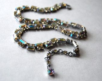 Gorgeous Iridescent Rhinestone Necklace
