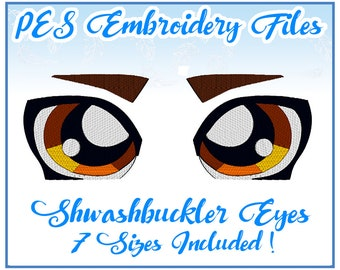 PES Swashbuckler Eyes Embroidery Pack- Vyse inspired face (Skies of Arcadia)