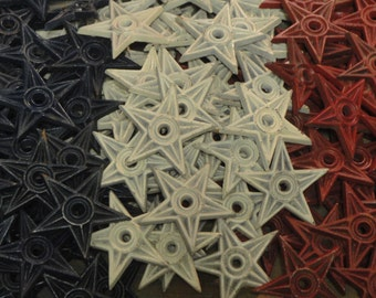 Small Cast Iron Stars For Your DIY Projects Set Of 6 | Chose From Red White Or Blue