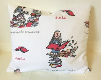 Roald Dahl 'Matilda' cushion.