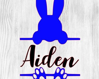Personalized Easter Adhesive Vinyl Decal