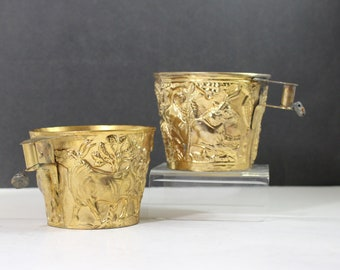 Vaphio Cups replica of Greek Bronze age Archaelogical Find