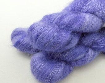 Heather on Adrift, 70 Kid Mohair 30 Silk, Lace weight yarn handdyed indie