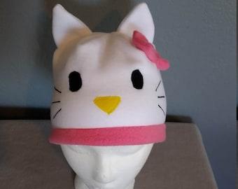 Hello Kitty Hat/Hello Kitty Child and Adult hat/ Hello Kitty Beanie Winter child and Adult hat/ Fun Halloween Hat/ Ski hat/ Fun Ski Hat