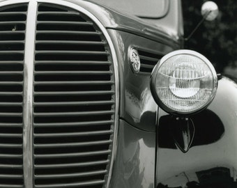 """The Vintage Auto Black and White Photograph 11 x 14"""""""