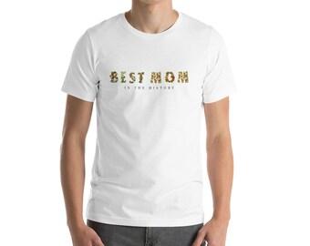 Beste Mama der Geschichte tropischen Blumen Druck Frauen Kurzarm-t-shirt