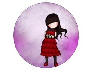 20mm, red dress Lady, gorjuss