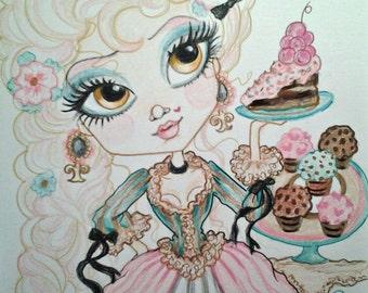 Cake Saves The Day Big Eye Art fantasy cake french