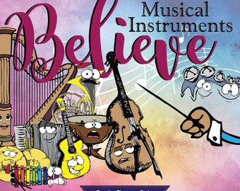 Musical Instruments Believe Book