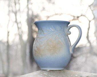 Ceramic Pitcher Jug, juice water pitcher, wine large jug, Stoneware Pitcher, ceramic blue vase, Milk Pitcher, Farm Rustic Decor