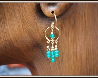 Green Onyx Earrings, Green Onyx Chandeliers, Onyx Earrings, Onyx Chandeliers, Green and Gold Earrings, Green Gemstone Earrings, Onyx Dangles