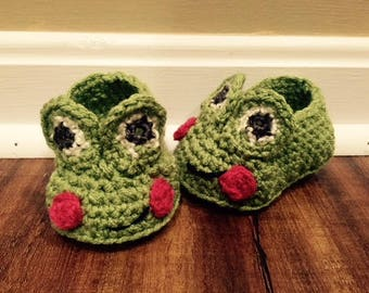 Froggy Baby Booties