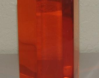 Orange Plexiglass Mid Century Modern decoration