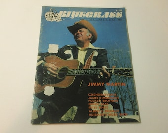 Bluegrass Unlimited Vol. 21, No. 1 (July 1986) - Jimmy Martin cover ~ vintage 80s Music Magazine back issue