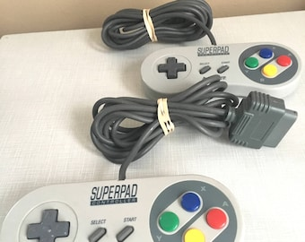 Two Super Nintendo Controllers