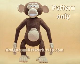 CROCHET PATTERN - Monkey amigurumi. PDF