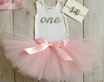 Birthday Outfit Pink Silver Birthday Outfits 1st Birthday Outfit First Birthday Outfit Cake Smash Outfits Tutu Dress Birthday Tutu