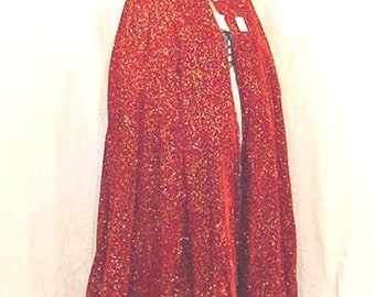 20% OFF Red velveteen with gold renaissance cloak cape 6623A abe