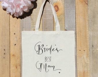 Bride's Best Man Bridesman Wedding Party Gift Tote Bag Guy Gift Bridal Party Bridemsaid Gift