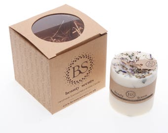 Handmade Scented Natural Candle With Wild Flowers D 7.5 H 8.5 cm